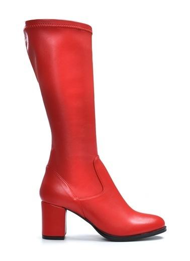 Vizon Ayakkabı Çizme Kırmızı
